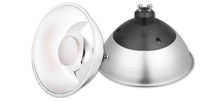 led spot es111 ar111 cob 12w g10 dimmbar mit blendschutz. Black Bedroom Furniture Sets. Home Design Ideas