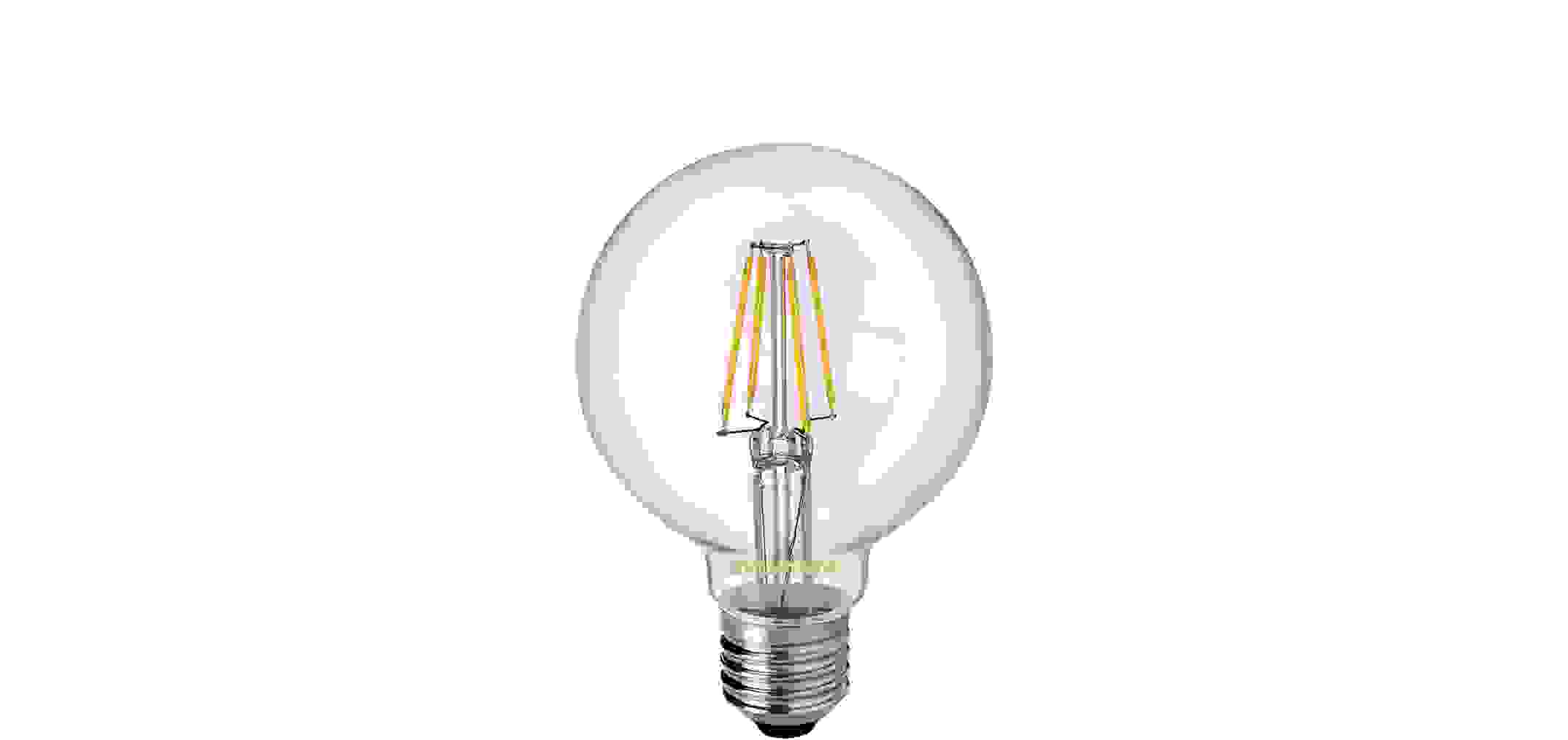 Toledo Filament LED Birne G80 5W E27 warmweiß