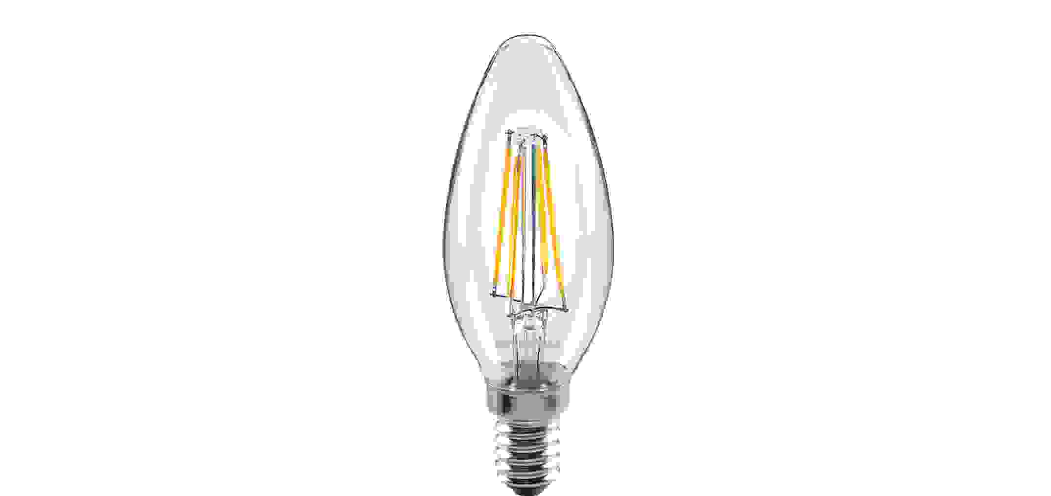 Toledo Filament LED Kerze 4W E14 warmweiß