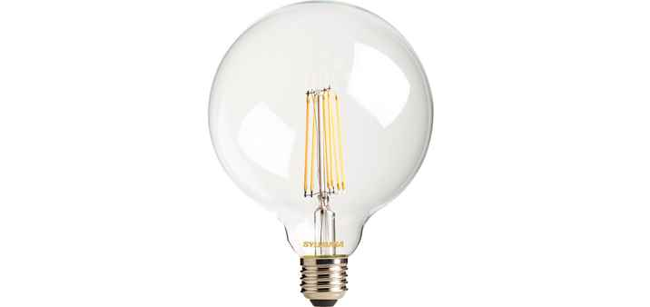 Toledo Filament LED Birne G120 7,5W E27 warmweiß