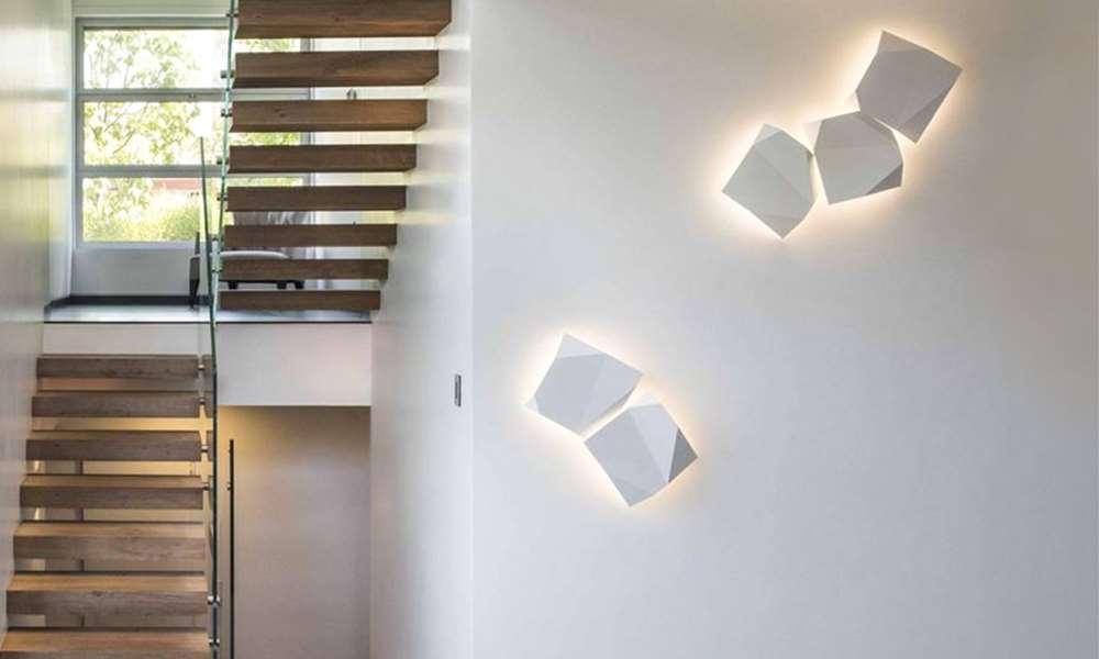 Wandbeleuchtung Origami